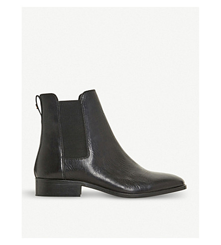 DUNE Payeton leather Chelsea boot (Black-leather