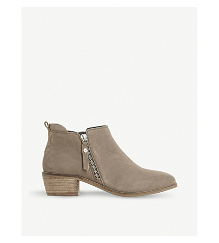 DUNE Side-zip suede ankle boots (Stone-nubuck