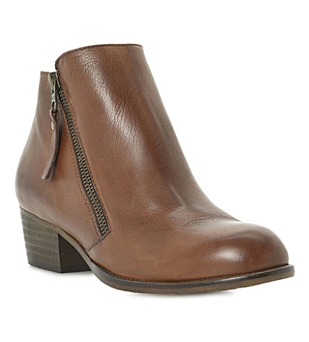 DUNE Pash leather ankle boots (Tan-leather