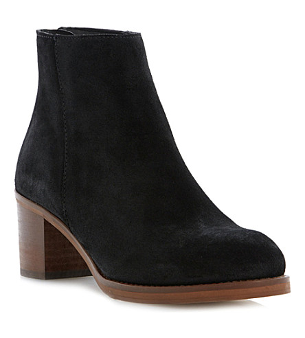 DUNE Packer suede ankle boots (Black-suede