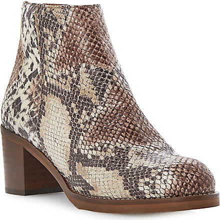 DUNE Packer snakeskin-print ankle boots (Natural-reptile
