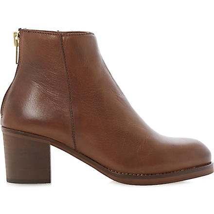 DUNE Packer leather ankle boots (Tan-leather