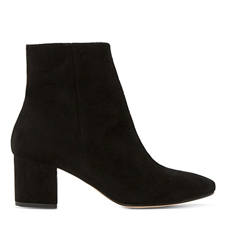 DUNE Pebble suede ankle boots (Black-suede
