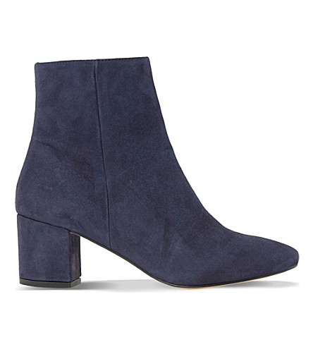 DUNE Pebble suede ankle boots (Navy-suede
