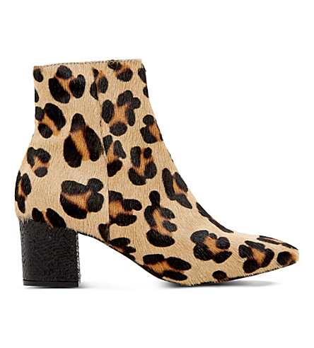 DUNE Pebble pony hair ankle boots (Leopard-pony
