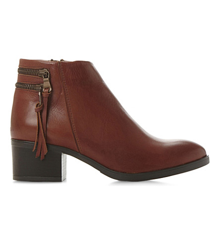 DUNE Pipinn leather ankle boots (Tan-leather