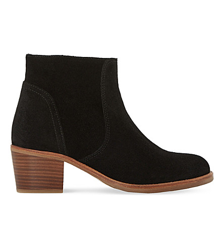 DUNE Pearson suede ankle boot (Black