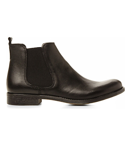 DUNE Paddy D Chelsea leather ankle boots (Black