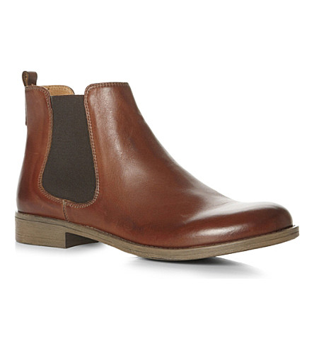 DUNE Paddys Chelsea leather boots (Tan