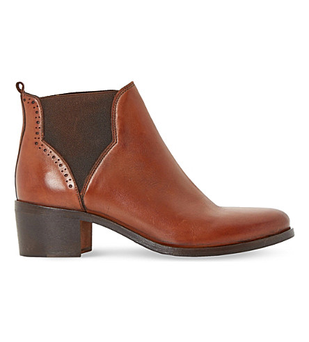 DUNE Parnell leather chelsea ankle boots (Tan-leather
