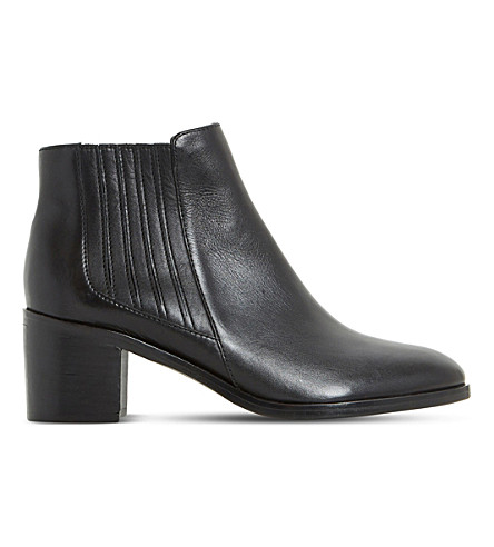DUNE Peter leather ankle boots (Black-leather