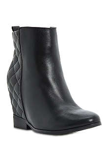 DUNE Pex quilted wedge boots