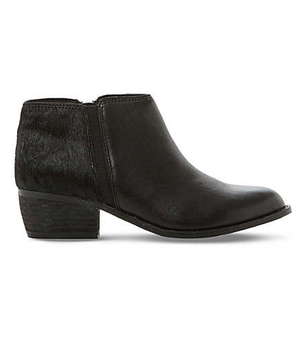 DUNE Penelope leather ankle boots (Black-pony
