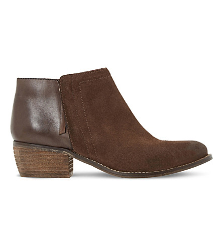 DUNE Penela leather and suede ankle boots (Brown-leather