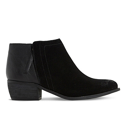 DUNE Penela leather and suede ankle boots (Black-leather+mix