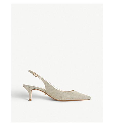 DUNE Casandra 金属编织 slingback 宫廷鞋 (金属金属 + 织物