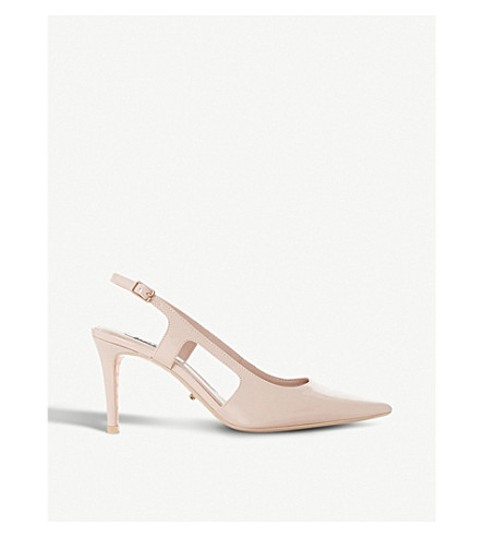 DUNE Crowne slingback patent court shoes (Blush-patent+synthetic