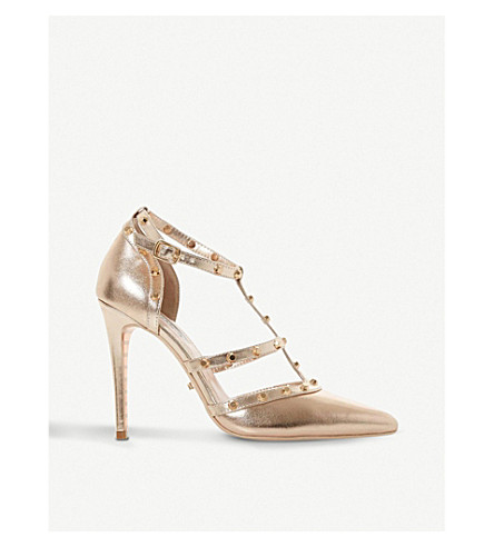 DUNE Daenerys studded leather courts (Rose+gold-leather