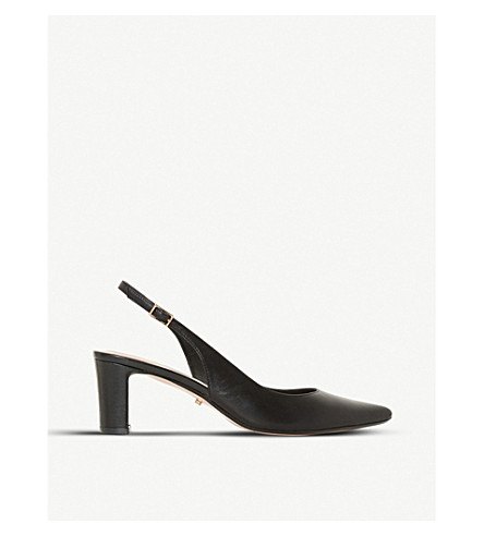 DUNE Conde slingback leather court shoes (Black-leather