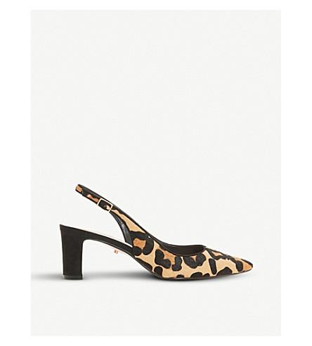 DUNE Conde leopard-print court shoes (Leopard-pony