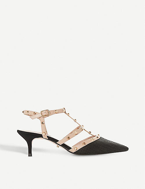 DUNE Casterly studded leather courts