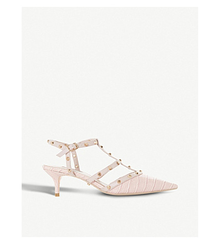 Casterly croc-embossed studded courts