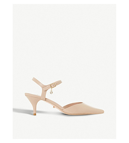 DUNE Christyne backless faux-leather courts (Nude-leather