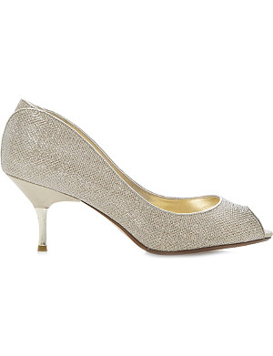 DUNE Decra glitter peep-toe courts