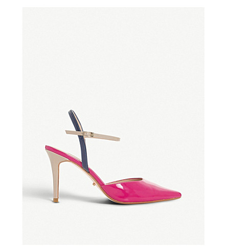 DUNE Christy colour-blocked patent leather courts (Multi