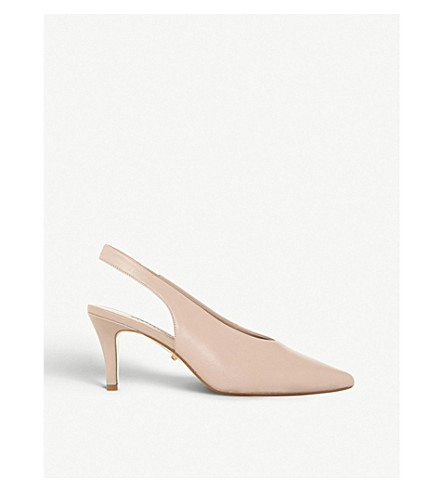 DUNE Cas patent leather courts (Blush-leather