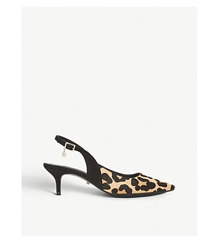 DUNE Cinda leopard print slingback courts (Leopard