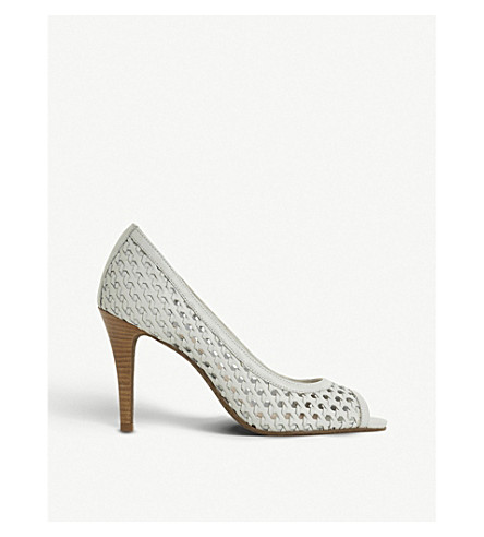 DUNE Carding woven-leather courts (White-leather