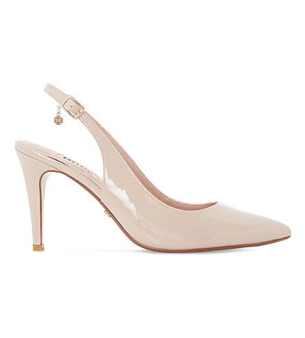 DUNE Cathy patent leather courts (Nude-patent+synthetic