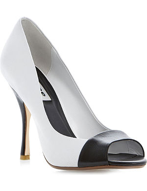 DUNE Carine leather court shoes