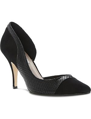 DUNE Constance semi d'orsay court shoes