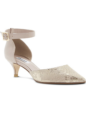 DUNE Cameran pointed-toe leather court shoes
