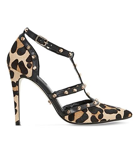 DUNE Daenerys leopard-print court shoes (Leopard-pony
