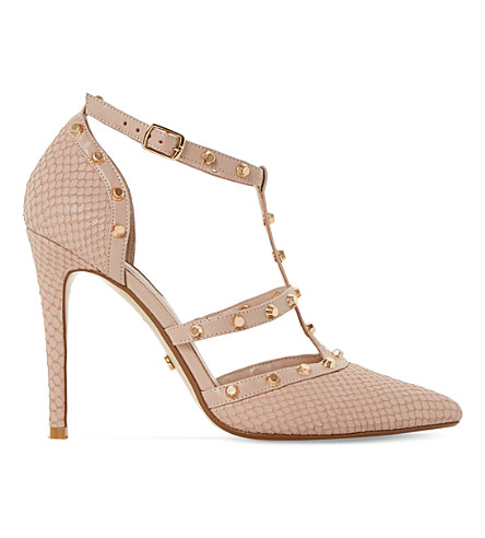 DUNE Daenerys studded reptile-effect courts (Blush-reptile