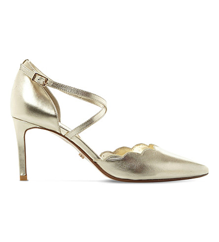 DUNE Cerys metallic-leather courts (Gold-leather