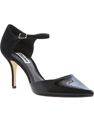 DUNE Claudia two-part heeled court shoes
