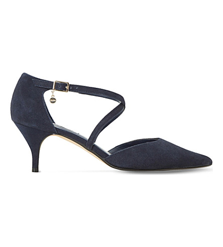 DUNE Courtnee suede kitten heel (Navy-suede