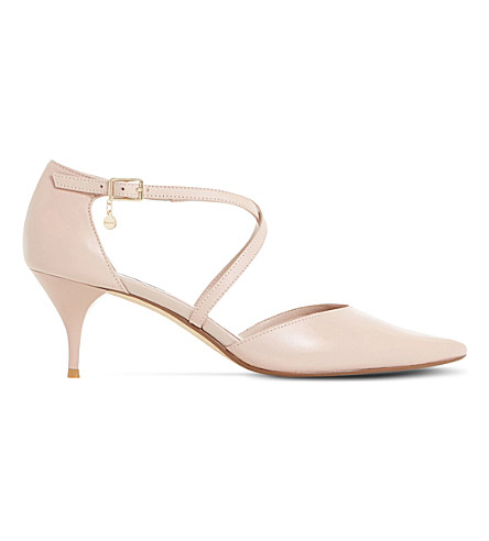 127f6437880 DUNE Courtnee leather kitten heel courts (Blush-leather