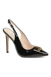 DUNE Cadet patent slingback court shoes