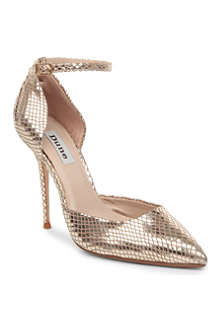 DUNE Charm patent pointed court shoe