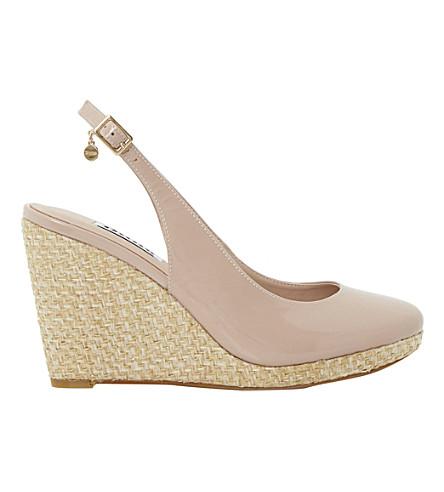 DUNE Cecille espadrille wedge sandals (Blush-patent