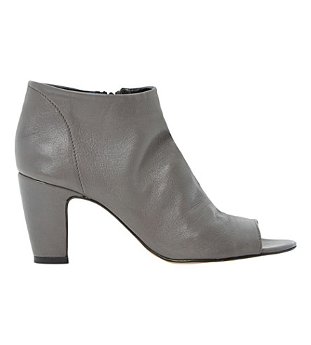 DUNE Caitlen leather ankle boots (Grey-leather