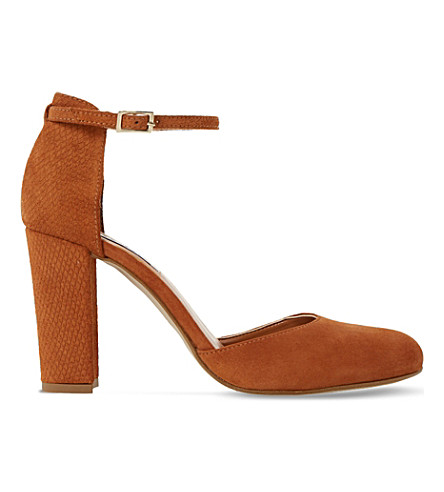 DUNE Cairo suede courts (Tan-suede