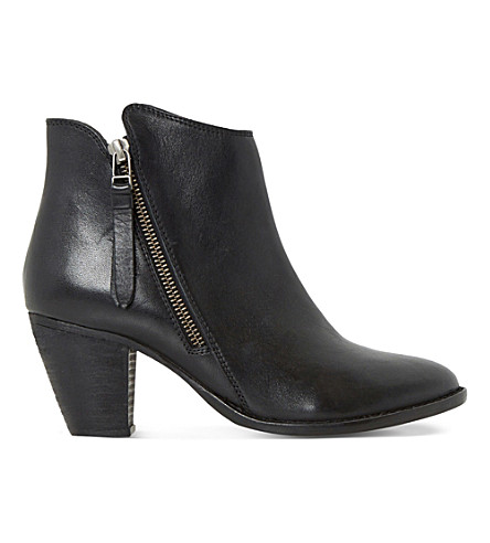 DUNE Penny leather ankle boots (Black-leather