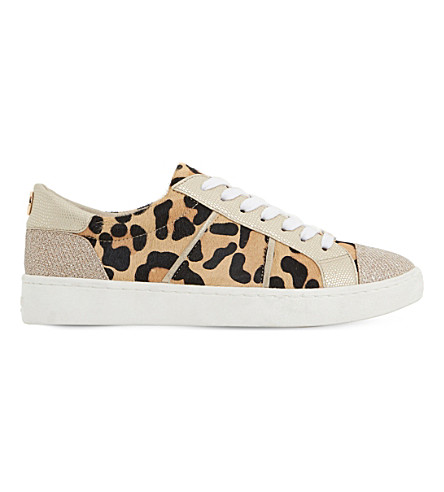 DUNE Egypt leather trainers (Leopard-pony