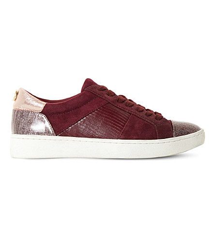 DUNE Egypt suede and leather trainers (Berry-suede
